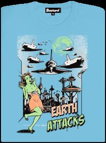Země útočí světle modré dámské tričko