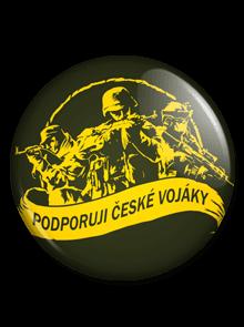 Velká placka Podporuji vojáky zelená